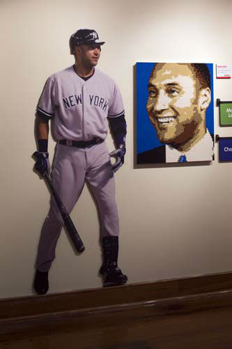 A portrait of Derek Jeter was created using 5,066 Lego bricks.  <span class=meta>(Photo&#47;James Moses)</span>